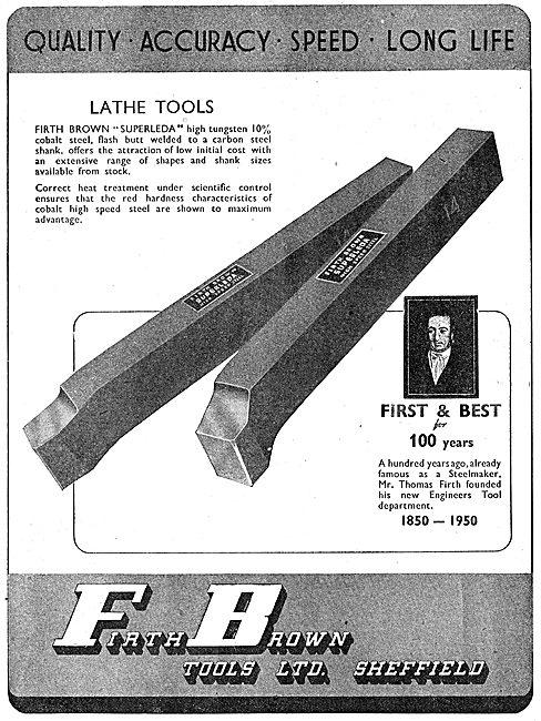 Firth Brown Engineers Tools - Lathe Tools. Superleda