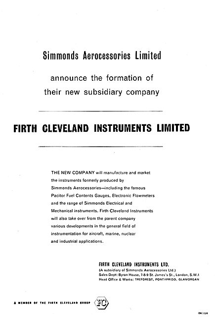 Firth Cleveland Instruments - Simmonds Aerocessories