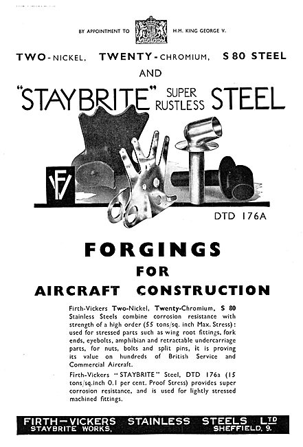 Firth-Vickers Stainless Steels - Staybrite Steel 1935