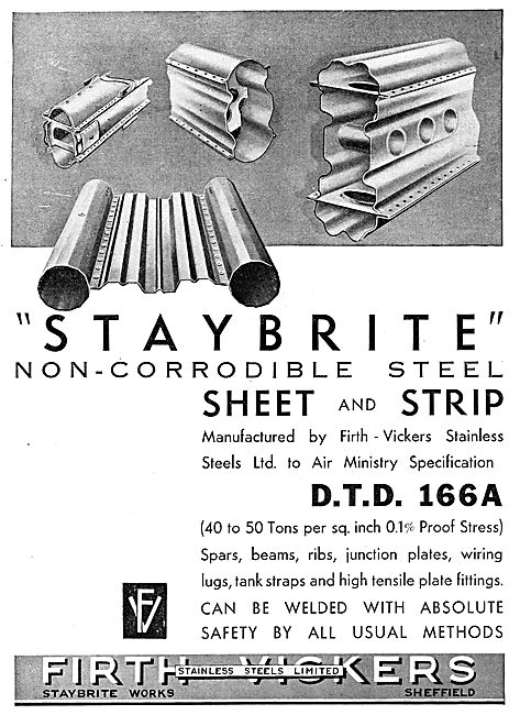 Firth-Vickers Stainless Staybrite Steels