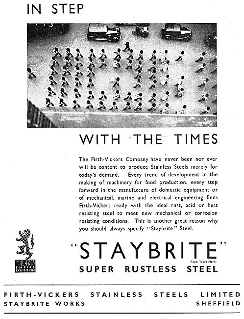 Firth-Vickers Staybrite Stainless Steels