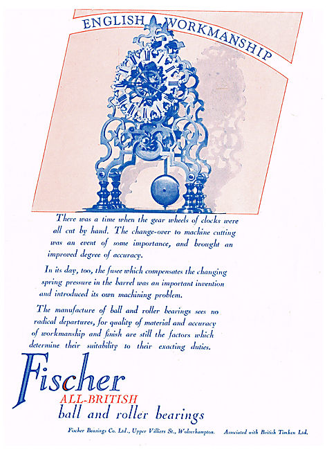 Fischer All British Bearings For Aircraft