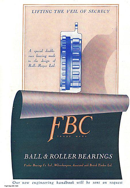 Fischer Ball & Roller Bearings For Aircraft