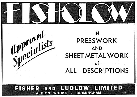 Fisher & Ludlow Factory Equipment. Factory Presswork