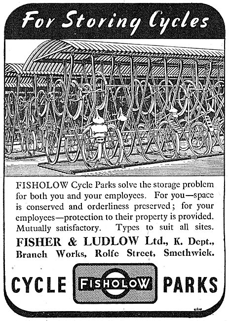 Fisher & Ludlow Factory Cycle Parks 1942 Advert