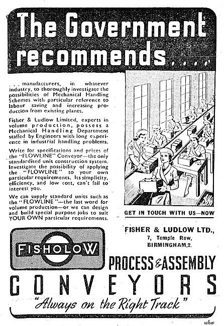 Fisher & Ludlow Factory Equipment. - Conveyor Belts 1943