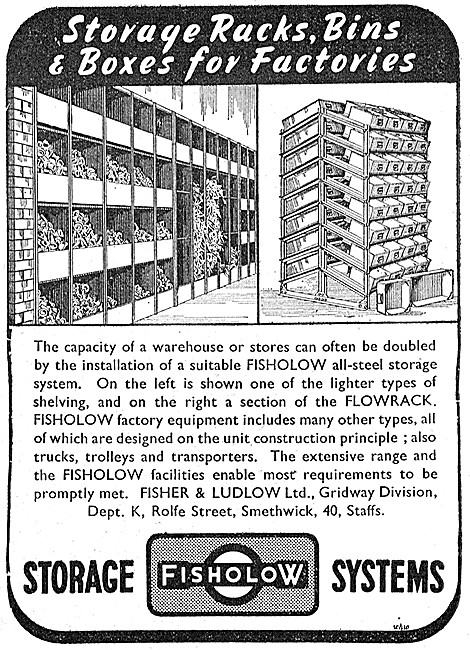 Fisher & Ludlow Pressings & Factory Storage Equipment.