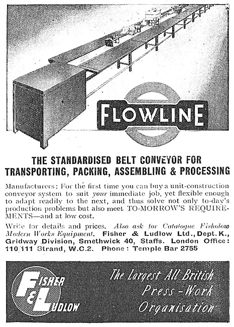 Fisher & Ludlow FLOWLINE Assembly Line Conveyers