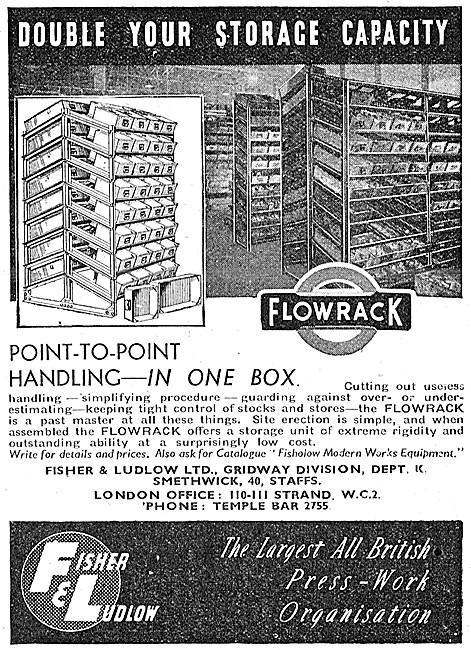 Fisher & Ludlow FLOWRACK Storage Bin System