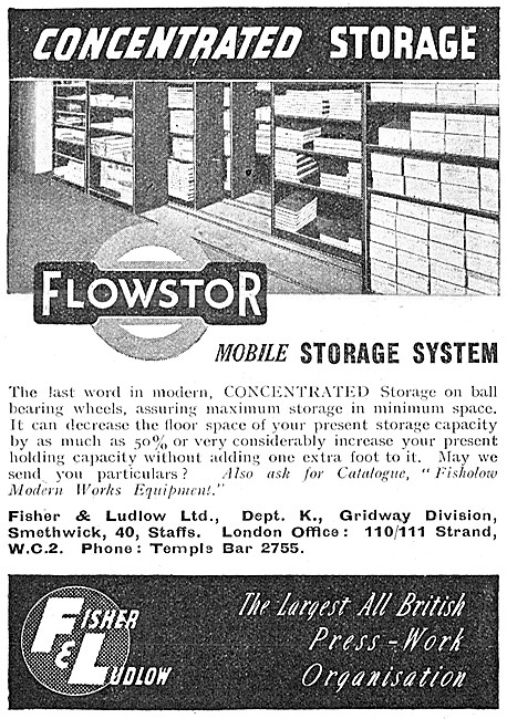 Fisher & Ludlow FLOWSTOR Mobile Storage System