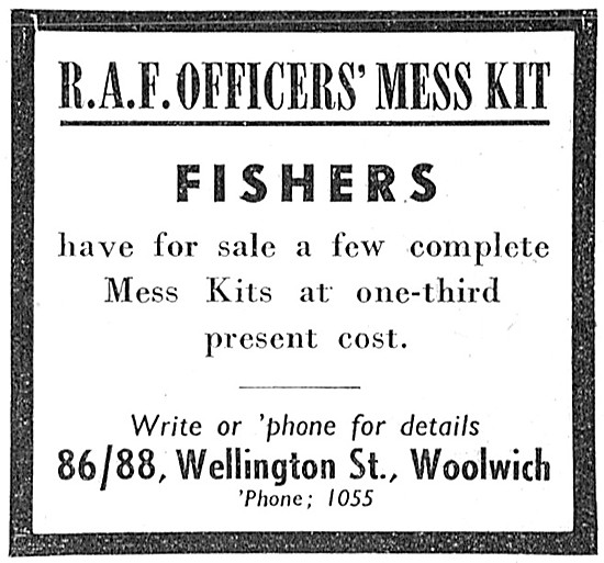 Fishers RAF Officers Mess Kit