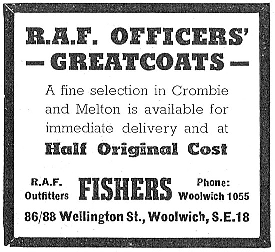 Fishers RAF Officers Greatcoats - RAF Outfitters