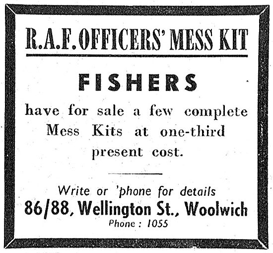 Fishers RAF Officers' Mess Kit 1949