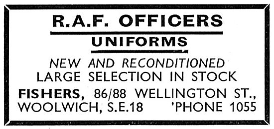 Fishers RAF Officers Uniforms