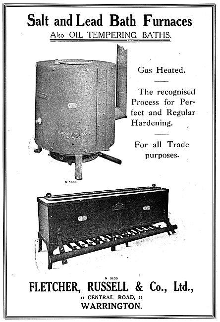 Fletcher Russell Gas Heated Salt & Lead Bath Furnaces - 1919