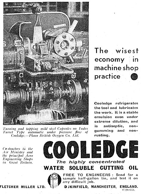 Fletcher Miller - Cooledge Water Soluble Cutting Oil