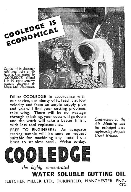 Fletcher Miller Cooledge Water Soluble Cutting Oil