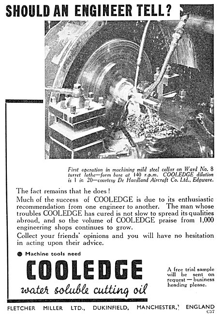 Fletcher Miller Cooledge Cutting Oil