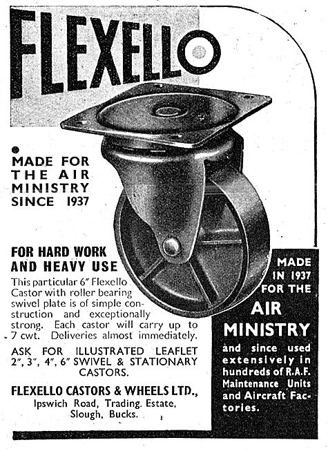 Flexello Industrial Castors & Wheels 1943 Advert