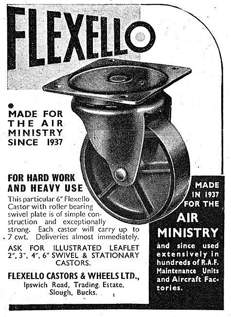 Flexello Industrial Castors & Wheels 1943 Advert