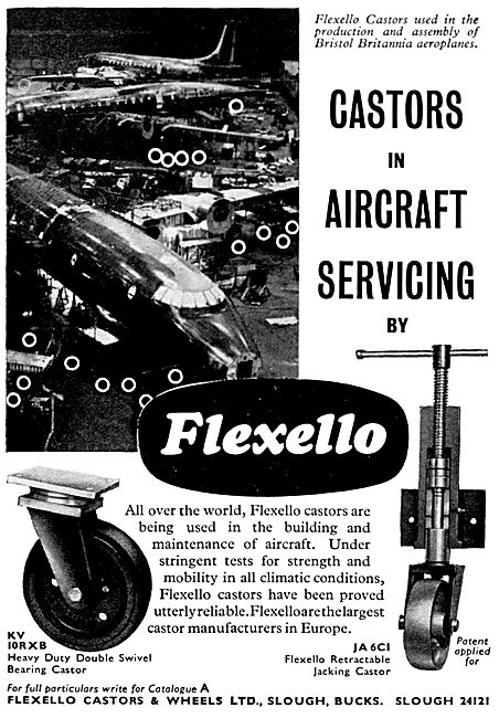 Flexello Castors For Aircraft Servicing Equipment