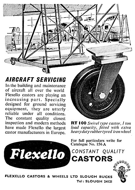 Flexello Castors For Servicing Equipment