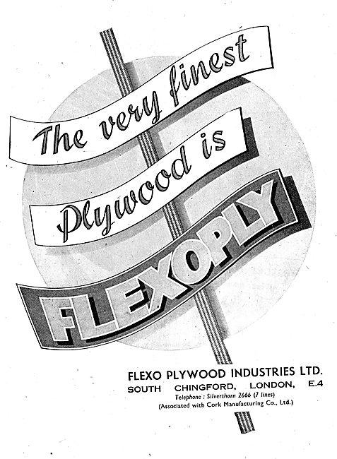 Flexo Flexoply Aircraft Plywood 1943 Advert