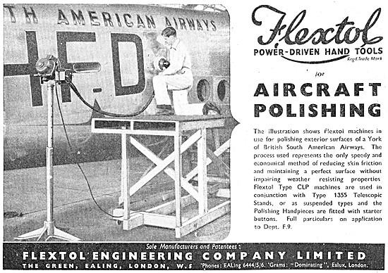 Flextol Flexible Shaft Driven Tools Aircraft Polishing Equipment
