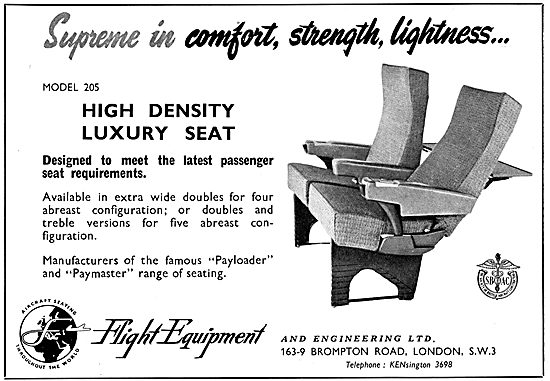 Flight Equipment - Manufacturers Of Aircraft Seating