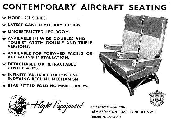 Flight Equipment Aircraft Seating 1958