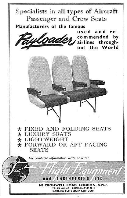 Flight Equipment.  Aircraft Seating