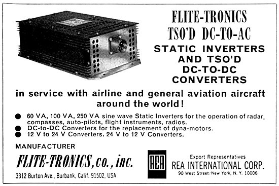 Flite-Tronics Staic Inverters