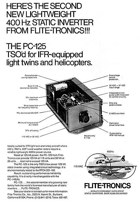 Flite-Tronics Static Inverters - PC-125 125 VA Static Inverter