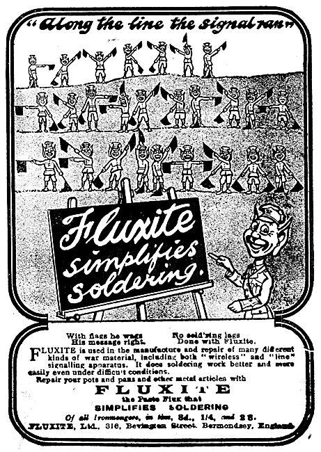 Fluxite Solder - 1919 Advert