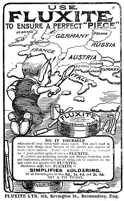 Fluxite Soldering Paste - 1919 Advert