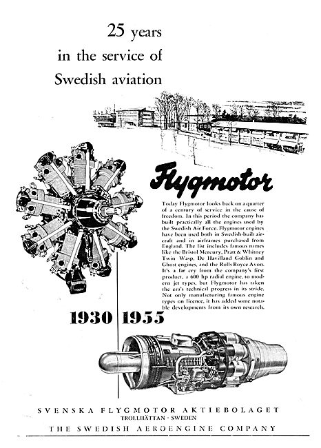 Flygtmotor Aero Engines 1955 - 20 Years