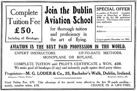 The Dublin Aviation School - M.G.Loder