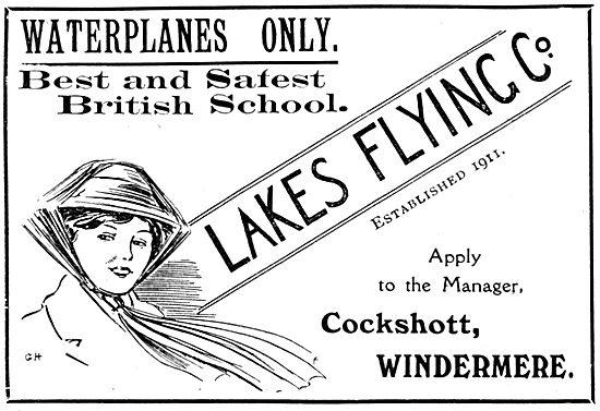 Lakes Waterplane Flying School.  Cockshott Windermere