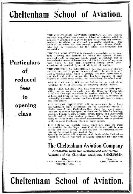 The Cheltenham School Of Aviation 1919