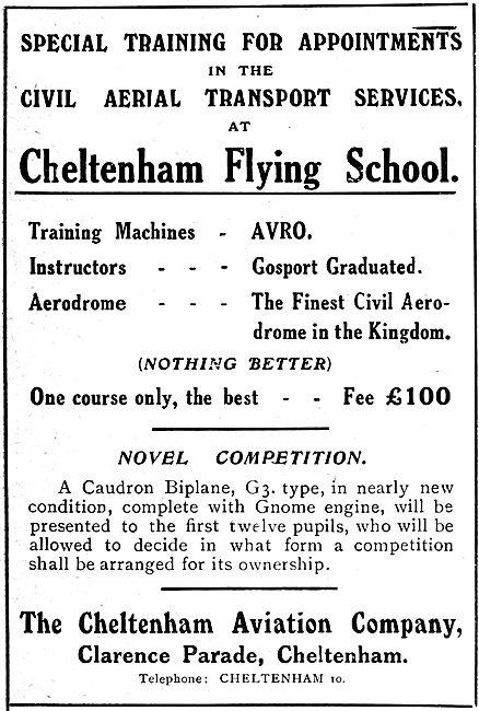 Cheltenham Flying School 1919