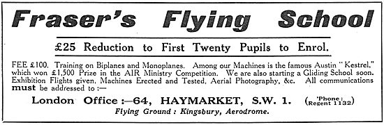 Fraser's Flying School - Fee's Reduced.