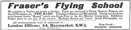 Frasers Flying School Kingsbury Aerodrome