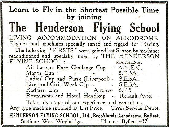 The Henderson Flying School Brooklands Aerodrome