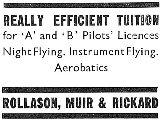 Rollason Muir & Rickard - Flying Training
