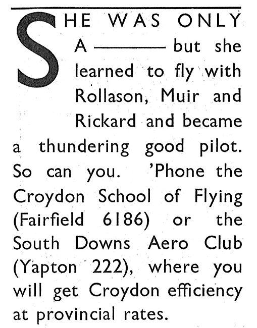 Rollason Muir & Rickard: Croydon & Ford Aerodromes