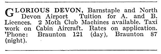 Barnstaple & North Devon Airport: Flying School & Aircraft Hire