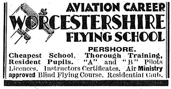 Worcestershire Flying School Pershore