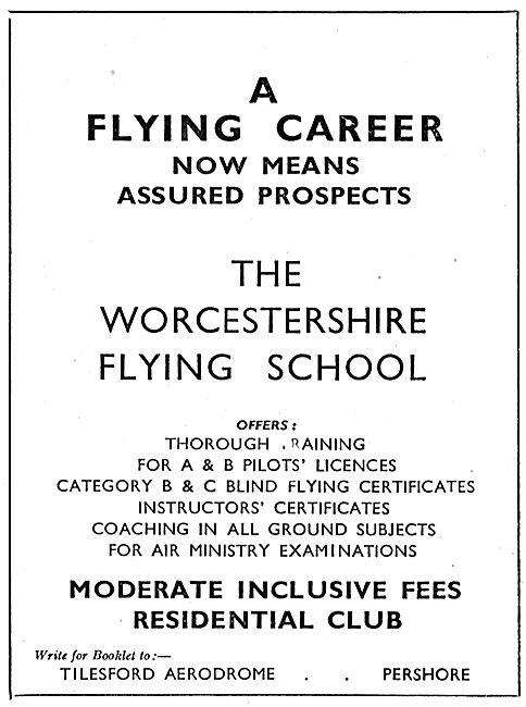 The Worcestershire Flying School - Tilesford Aerodrome Pershore