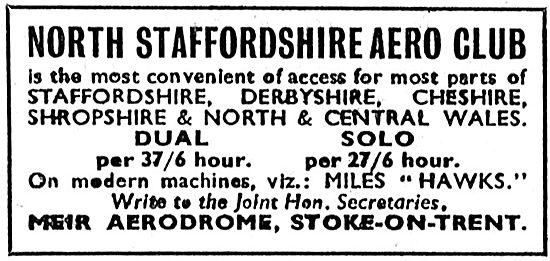 North Staffordshire Aero Club - Meir Aerodrome