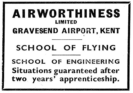 Airworthiness School Of Flying. Gravesend Airport